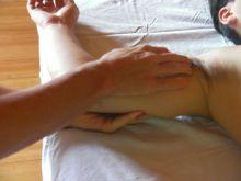 腕への施術